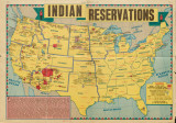 A map of Indian agencies and reservations