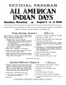 Program for All American Indian Days