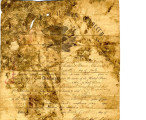 Discharge certificates of members of the Indian Home Guard dated 1865 and written at Fort Gibson....