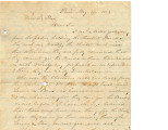 Letter to Gov. LeFlore from P.P. Stark regarding the Choctaw bonds, May 29, 1873.