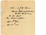 Correspondence from J. G. Stevens and Lib Stevens to Carrie LeFlore and others regarding Carrie's...