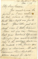 Letter from cousin Lawrence regarding Basil LeFlore's will and Carrie leaving the Choctaw Nation,...
