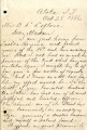 Letter from J. S. Standley regarding the death of Basil LeFlore, October 28, 1886.; Letter from J....