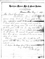 Letter from G.M. Savage, Principal of the Henderson Masonic Male and Female Institute, re: a...