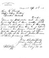 Letter from Samuel Checote to R. Bunch, April 3, 1883, re: recovery of a stolen/stray horse.