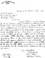 Letter of Isparhecher to D.M. Wisdom, March 14, 1898, asks Agent to warn land owners around the...