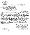 Letter from Samuel Checote to D.W. Bushyhead, October 14, 1880, re: extradition of criminals.