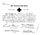 Maxine Cutlip's Red Cross certificate.
