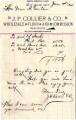 Personal records and correspondence:  1895.  Contract between Albert B. Bellis of Muscogee and...