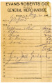 Personal records and correspondence:  1907.  Miscellaneous bank and merchants accounts for Green...