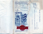 Personal records and correspondence:  1910.  Miscellaneous bank and merchants accounts for Green...