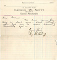 Personal records and correspondence:  1903.  Green McCurtains [personal?] accounts and...