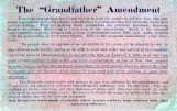 "Card: """"The Grandfather Amendment"""" [undated, no political affiliation noted]"