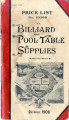 Price List No. 2039B of Billiard and Pool Table Supplies, October,1908, Brunswick-Balke-Collender...