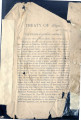 "Loose pages from a text or other book.  Pages are entitled, """"Treaty of 1837""""..."