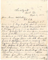 General correspondence and records: 1902 (November).  Miscellaneous letters regarding land...