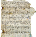 General correspondence and records: July 19, 1866.  Deed [torn fragment] for parcel of land in...