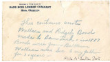 General correspondence and records: cira1888.  IOU from Ridgely and Wallace Bond to Sam Turk for...