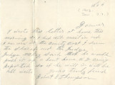 General correspondence and records: 1903 (November).  Miscellaneous letters regarding land...