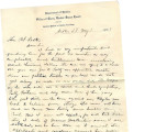 General correspondence and records: 1903 (May).  Miscellaneous letters regarding land allotments,...