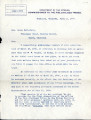 General correspondence and records: 1908 (April  June).  Miscellaneous letters regarding land...