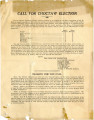 General correspondence and records:  1926.  Call for Choctaw Election to be held August 11, 1926,...