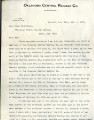 Railroads  Choctaw Nation: 1907.  Miscellaneous correspondence with various railroad companies...