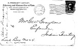 Letter from H. Prescott Gatley to G. W. Grayson re:  Creek allotments in Alabama, May 7, 1904.