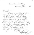 Letter from Representative Murphy (U. S. Congress) to Pleasant Porter re:  a Creek claim of money...