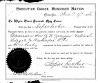 Commission by Isparhecher, Principal Chief, of G. W. Grayson as a delegate to Washington, DC,...