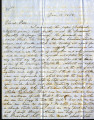 From Jacob Folsom.  To Peter P. Pitchlynn.  Dated Jan. 19, 1858.  Re: disagreement with an...