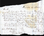 From James Penney.  To Peter P. Pitchlynn.  Dated June 6, 1863.  Re: flag made by local ladies to...
