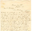 From Loring S.W. Folsom (Caddo, C.N.).  To Caroline V. (Lombardi?) Pitchlynn.  Dated July 29,...