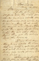 From J.H. Vose (Fort Towson, Choctaw Nation).  To Mittuchuchu, Choctaw Chief.  Dated May 14,...