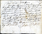 From John Pages.  To Col. Peter P. Pitchlynn.  Dated 1841.  Re: monitors request more meat and...