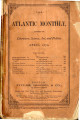 "Magazine, The Atlantic Monthly.  April 1870 issue.  See article, """"Peter Pitchlynn,..."