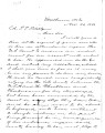 From H.F. Thomason (Van Buren, Arkansas).  To Peter P. Pitchlynn.  Dated Nov. 27, 1856.  Re:...